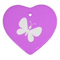 Butterfly Heart Ornament