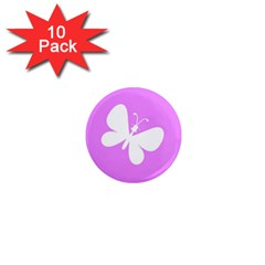 Butterfly 1  Mini Button Magnet (10 pack)