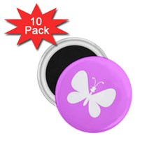 Butterfly 1.75  Button Magnet (10 pack)