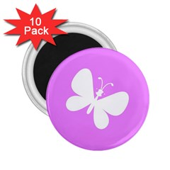 Butterfly 2.25  Button Magnet (10 pack)