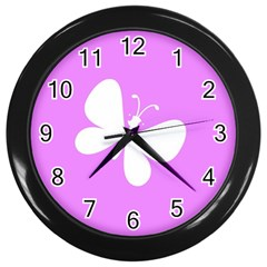 Butterfly Wall Clock (Black)