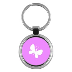 Butterfly Key Chain (round)