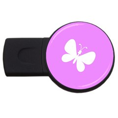 Butterfly 2gb Usb Flash Drive (round)