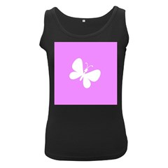 Butterfly Women s Tank Top (Black)