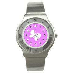 Butterfly Stainless Steel Watch (Slim)