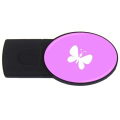 Butterfly 4GB USB Flash Drive (Oval)