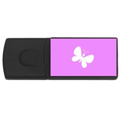 Butterfly 4GB USB Flash Drive (Rectangle)