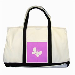 Butterfly Two Toned Tote Bag