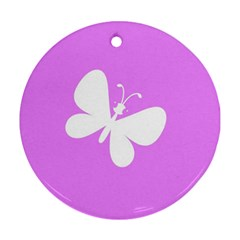 Butterfly Round Ornament (Two Sides)