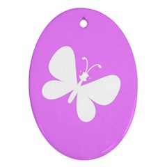 Butterfly Oval Ornament (Two Sides)