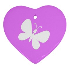 Butterfly Heart Ornament (two Sides)