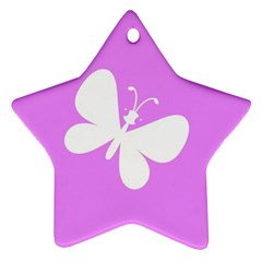 Butterfly Star Ornament (Two Sides)