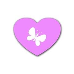 Butterfly Drink Coasters (heart)