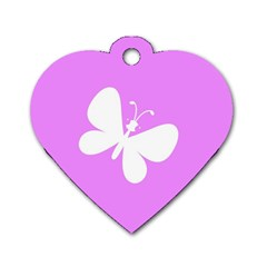 Butterfly Dog Tag Heart (One Sided)