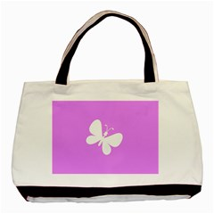 Butterfly Twin-sided Black Tote Bag