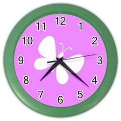 Butterfly Wall Clock (Color)