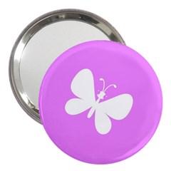 Butterfly 3  Handbag Mirror