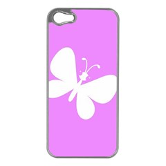 Butterfly Apple iPhone 5 Case (Silver)