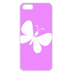 Butterfly Apple iPhone 5 Seamless Case (White)