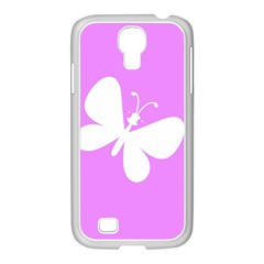 Butterfly Samsung GALAXY S4 I9500/ I9505 Case (White)