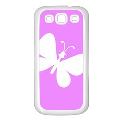 Butterfly Samsung Galaxy S3 Back Case (White)