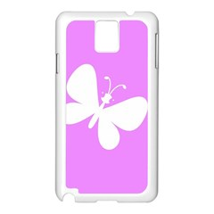 Butterfly Samsung Galaxy Note 3 N9005 Case (White)