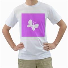 Butterfly Men s T Shirt (white)