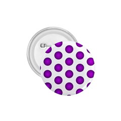 Purple And White Polka Dots 1.75  Button