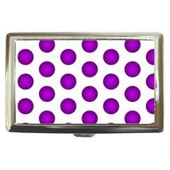 Purple And White Polka Dots Cigarette Money Case