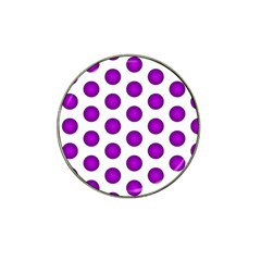 Purple And White Polka Dots Golf Ball Marker 4 Pack (for Hat Clip)