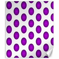 Purple And White Polka Dots Canvas 20  x 24  (Unframed)