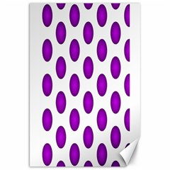 Purple And White Polka Dots Canvas 20  x 30  (Unframed)