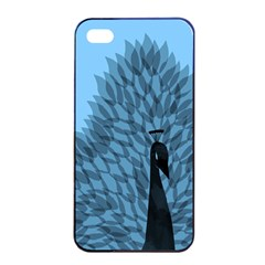 Flaunting Feathers Apple iPhone 4/4s Seamless Case (Black)