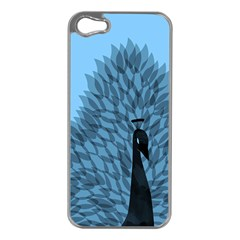 Flaunting Feathers Apple iPhone 5 Case (Silver)