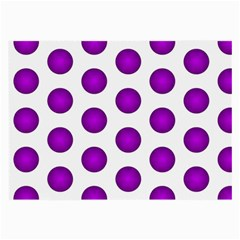 Purple And White Polka Dots Glasses Cloth (large, Two Sided)