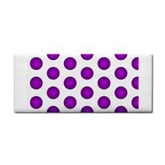Purple And White Polka Dots Hand Towel