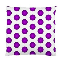 Purple And White Polka Dots Cushion Case (Two Sided)