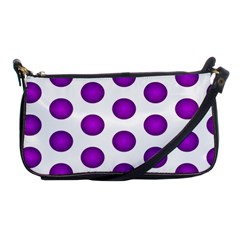 Purple And White Polka Dots Evening Bag