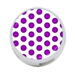 Purple And White Polka Dots 4-Port USB Hub (Two Sides)