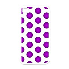 Purple And White Polka Dots Apple Iphone 4 Case (white)