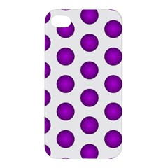 Purple And White Polka Dots Apple iPhone 4/4S Hardshell Case