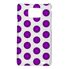 Purple And White Polka Dots Samsung Galaxy S II i9100 Hardshell Case