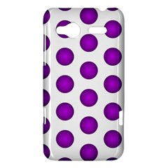 Purple And White Polka Dots HTC Radar Hardshell Case