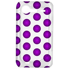 Purple And White Polka Dots HTC Incredible S Hardshell Case
