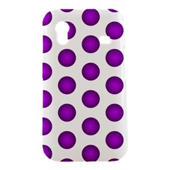 Purple And White Polka Dots Samsung Galaxy Ace S5830 Hardshell Case