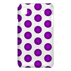 Purple And White Polka Dots Samsung Galaxy S i9008 Hardshell Case