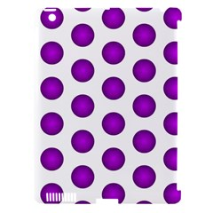 Purple And White Polka Dots Apple Ipad 3/4 Hardshell Case (compatible With Smart Cover)