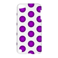 Purple And White Polka Dots Apple iPod Touch 5 Hardshell Case