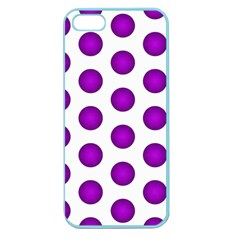 Purple And White Polka Dots Apple Seamless iPhone 5 Case (Color)