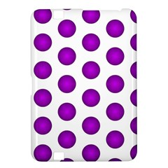 Purple And White Polka Dots Kindle Fire Hd 8 9  Hardshell Case
